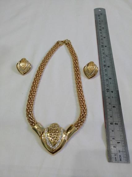 Conjunto Colar E Brinco (bijuteria Fina) N.36