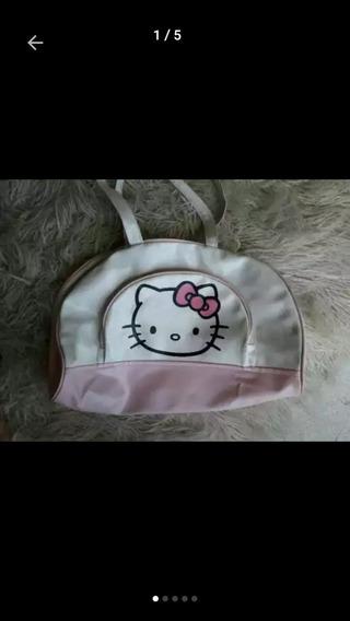Bolso Cuerina Grande Hello Kitty. Leer Descripción.