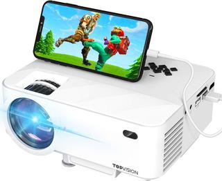 Mini Proyector Topvision Led 1080p Mirror-link Hdmi,vga,usb