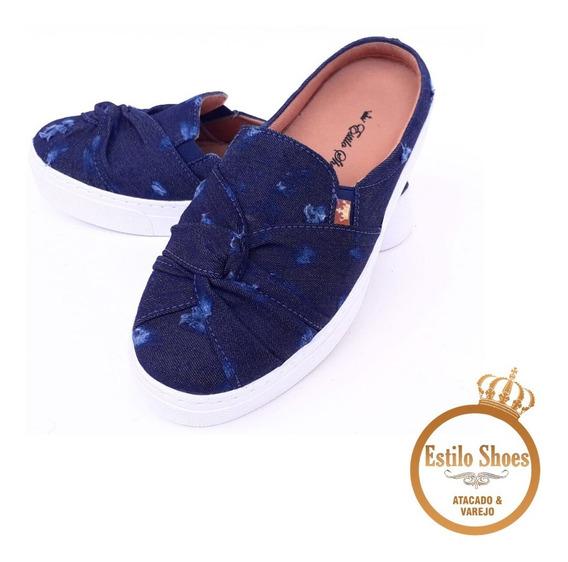 Tênis Mule Feminino Slip On Casual Babuche Estilo Shoes