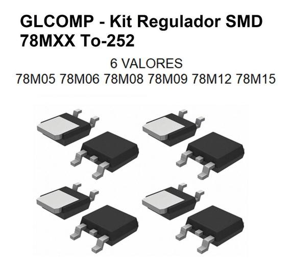 Regulador Smd 78m05 Xx To-252 Kit C/ 30 Pçs 6 Valores
