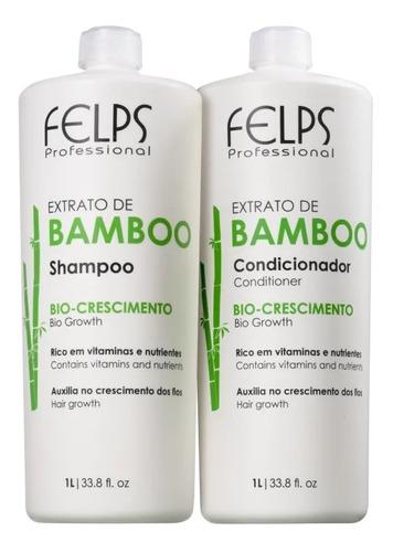 Felps Kit Bamboo Shampoo + Condicionador 1l + Brinde