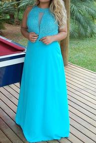 Vestido Longo Madrinha Mãe Noiva Formatura Plus Size Pérolas