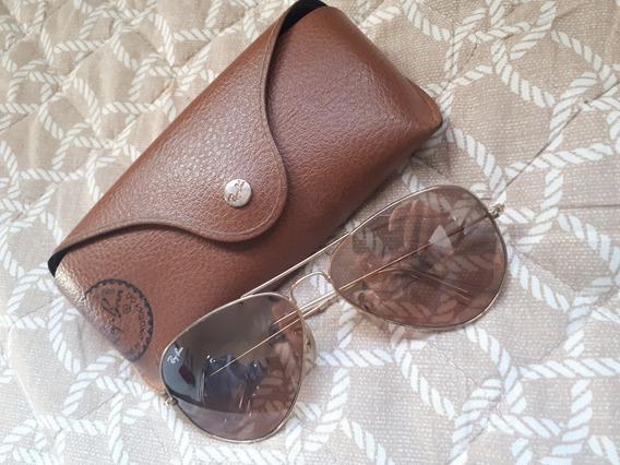 Óculos Ray Ban Dourado Original