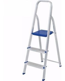 Escalera De Aluminio 3 Escalones Plegable Mor Oferta!!