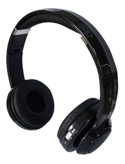 Fone Headset Hf-400bt Bluetooth Cartão Sd Exbom Multimídia