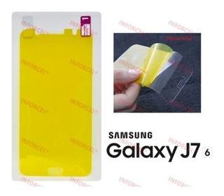 Película Silicone Gel Tela Toda Galaxy J7 2016 J710 Metal