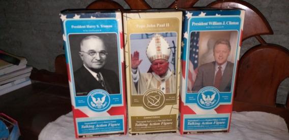 Coleção Usa Papa João Paulo Ii + Dois Presidentes Americanos