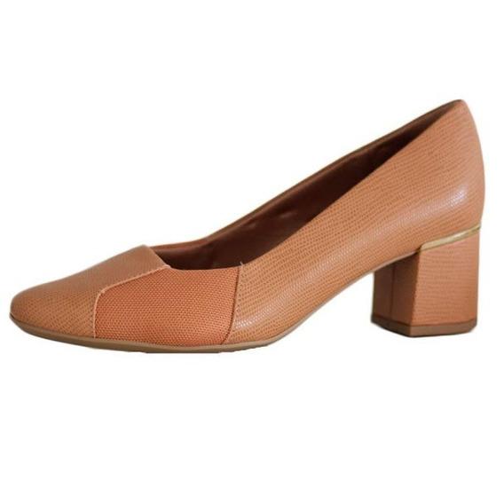 Sapato Usaflex Salto Grosso Lateral Para Joanete 2611 Compre