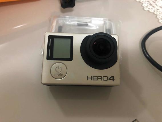 Gopro Hero 4 Silver - Original Usada Com Acessórios E Nf