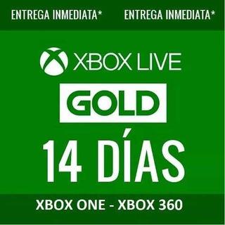 Xbox Live Gold 14 Días Región Libre Codigo Multiregion