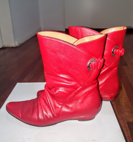 Botas Bajas Blaque Rojas N*36