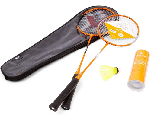 Kit Badminton Vollo 2 Raquetes 3 Petecas Com Bolsa