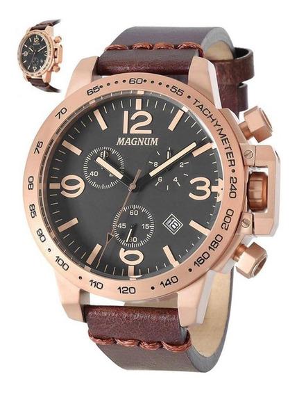 Relógio Magnum Masculino Marrom Ma34147u