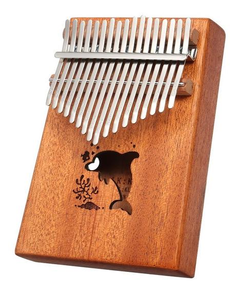 17 Teclas Port??til Polegar Piano Bolso Instrumento Kalimba