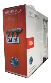 Bobina 100mts Cat 5e Interior Netmak Apto Técnico Oferta