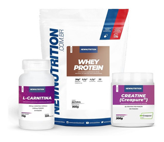 Kit Whey Protein+ Creatina Creapure +l-carnitina Newnutrion