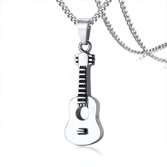 Collar Chulada, Guitarra Clásica De Acero Inoxidable P0090