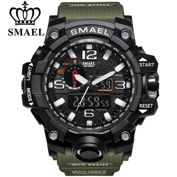 Relógio De Pulso Masculino Militar Led Esportivo Smael Top