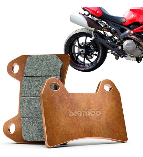 Pastilha Freio Traseira Ducati Monster 796 Original Dourada