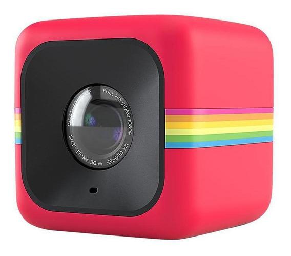 Câmera De Ação Full Hd Cube Polaroid Vermelha Polcubelsr