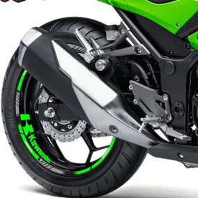 Adesivo Friso Refletivo Roda Kawasakininja 300r Verde