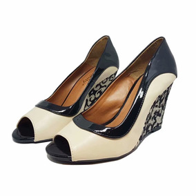 Sapato Ana Bella Peep Toe Salto Medio 107
