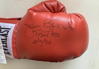 Luva De Boxe Everlast Autografada Do James Buster Douglas