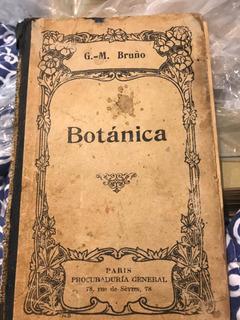 Libro Antiguo Botánica . G.-m Bruño