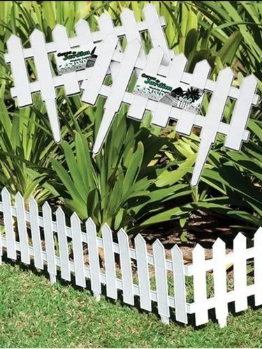 Kit 9 Cercas Plastica Decorativa Jardim Inglês 3,645m Total