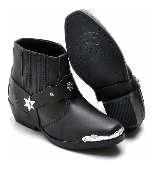 Bota Botina Infantil Country Kids Couro Confort Boots 2cores