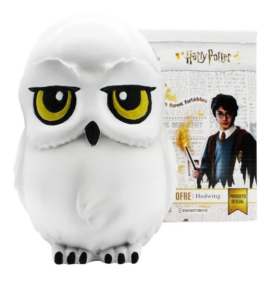 Cofre 3d Edwiges Formato Harry Potter Coruja Cofrinho Moedas