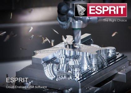 Esprit 2018 R2 Portugues + Apostilas / Cad/cam / Para Fresa