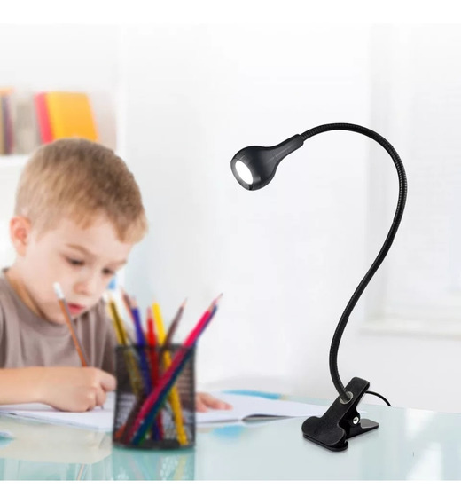 1 Lampara Luz Led Escritorio Leer Estudiar Mesa Usb Clip