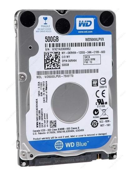 Hd 500gb Sata (desktop) Wester Digital Em Perfeito Estado.