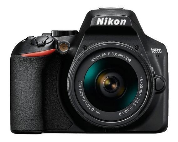 Camara Nikon Reflex D3500 Kit 18-55mm Sup D3400 Bolso+16gb