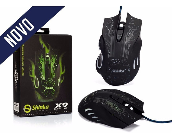 Mouse Gamer Usb Shinka X9 2400dpi Colorido
