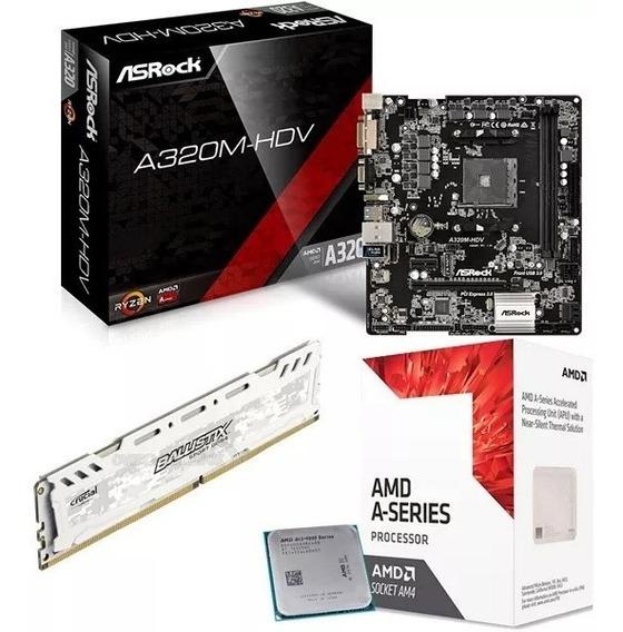 Combo Actualizacion Gamer Amd A10 9700 10 Core Video R7 8gb