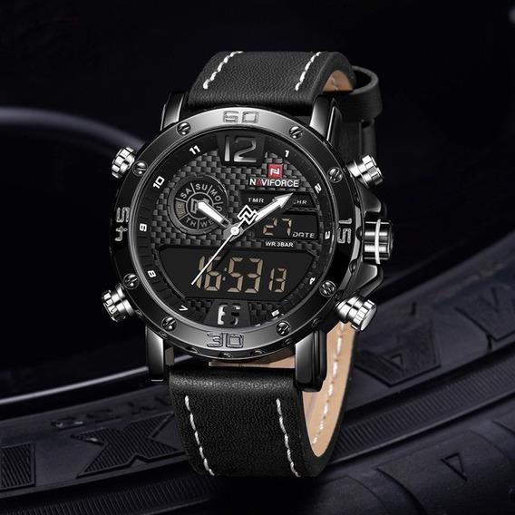 Relógio Masculino Original Naviforce Super Elegante + Caixa