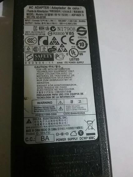 Fonte Delta Carregador Notebook 19v 3.16a Ad-6019 Samsung