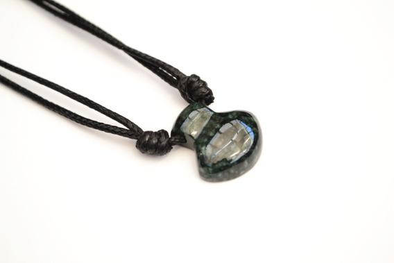 Collar Hacha De Jade Verde Clasico