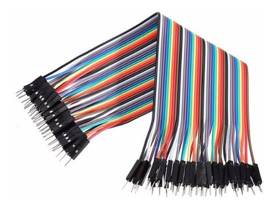 Pack 40 Cables Macho Macho 20cm Dupont Arduino Y Protoboar