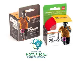 02 Fitas Bandagem Kinesio Tape Tmax Original Elastica 5 Mts