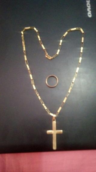 Cordão De Ouro E Aliança 18gramas 1.800 Reais