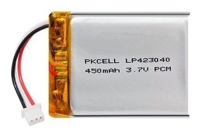 Bateria Litio Ion Prismática 3,7v 450mah Li-ion Para Gps