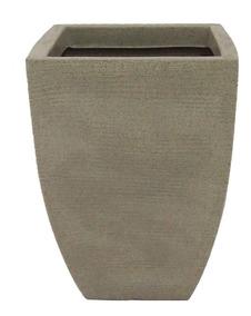 Vaso De Planta Quadrado Texturado 29x18x40