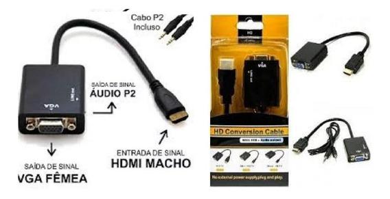 Adaptador Conversor De Video Entra Hdmi Sai P/ Vga Monitor
