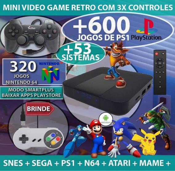 Mega Game Box + 2 Controles De Super Nintendo +24.000 Jogos + Jogar Jogos Retro Mega Drive Sonic Super Mario Nostalgia!