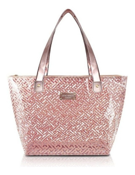 Bolsa Shopper Transparente Abc17573 - Diamantes