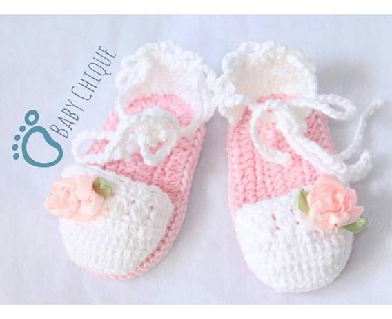 Sandália De Bebê Menina Menino Crochê Anti Alérgico
